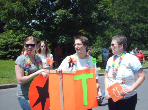 Some of the young people marching for the Trevor Project